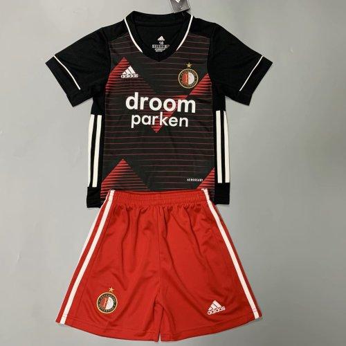 Feyenoord Rotterdam 20/21 Kid's Away Soccer Jersey and Short Kit