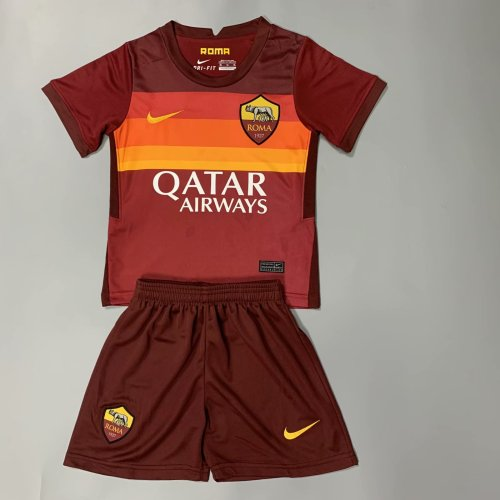 AS Roma 20/21 Kids Home Soccer Jersey and Short Kit