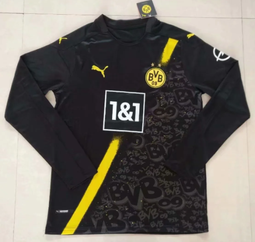 Thai Version Borussia Dortmund 20/21 Away LS Soccer Jersey