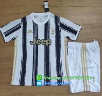 Juventus 20/21 Home Soccer Jersey and Short Kit