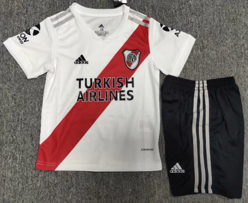 River Plate 2020 Kids Home Soccer Jersey and Short Kit
