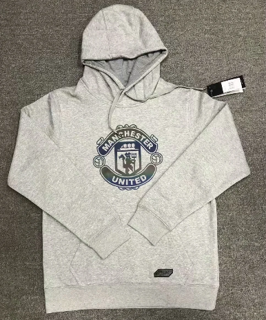 Manchester United 20/21 Hoodie With Wool -Gray