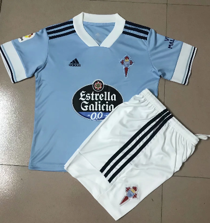 Celta 20/21 Kid's Home Soccer Jersey and Short Kit