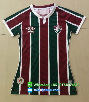 Thai Version Fluminense 2020 Women's Home Soccer Jersey
