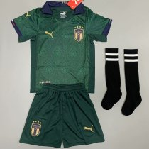 Kids Italy 2021 Third Soccer Jersey and Short Kit