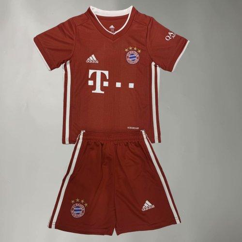 Bayern Munich 20/21 Kids Home Soccer Jersey and Short Kit