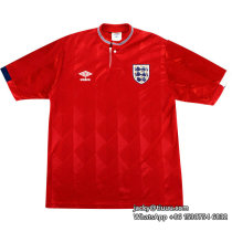England 1987-90 Away Retro Soccer Jersey