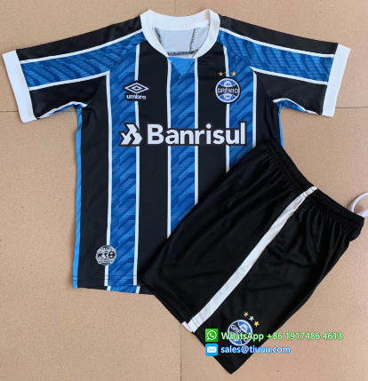 Gremio 2020 Kids Home Soccer Jersey and Short Kit