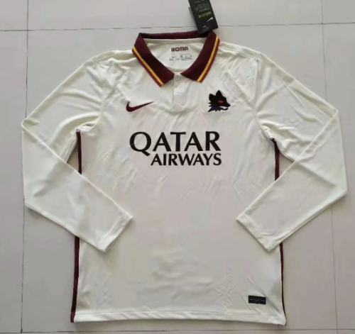 Thai Version AS Roma 20/21 LS Away Soccer Jersey