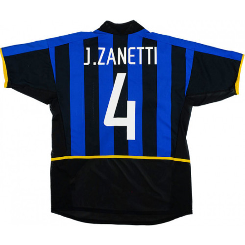 Inter Milan 2002/2003 Home Retro Jersey J.Zanetti #4