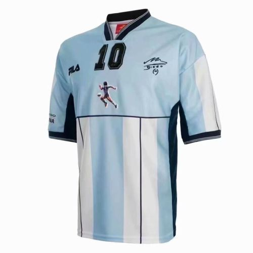 Argentina 2001 Diego Maradona Testimonial Retro Jersey