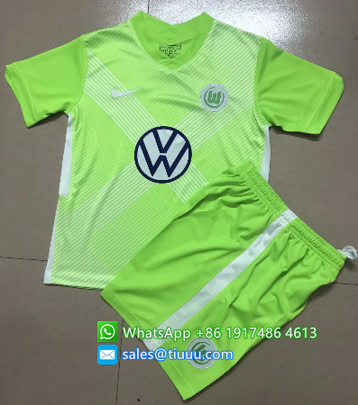 Wolfsburg 20/21 Kids Home Soccer Jersey and Short Kit