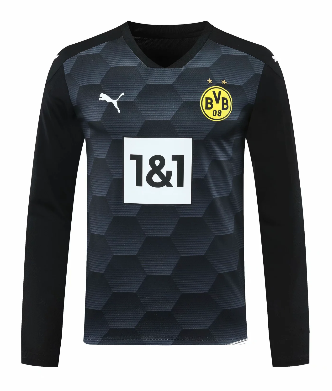 Thai Version Borussia Dortmund 20/21 Goalkeeper LS Soccer Jersey - 002