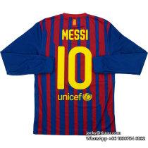 Barcelona 2011-2012 Messi Home Retro L/S Jersey
