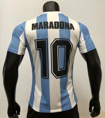Player Version Argentina 1986 Home Retro Authentic Jersey 10 Maradona