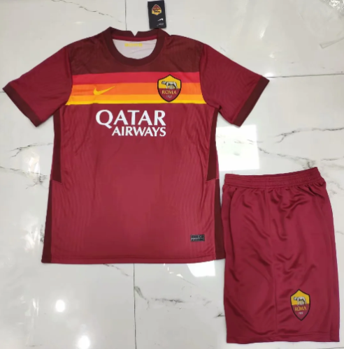AS Roma 20/21 Home Soccer Jersey and Short Kit