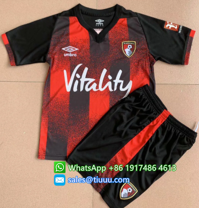 Bournemouth 20/21 Kids Home Soccer Jersey and Short Kit
