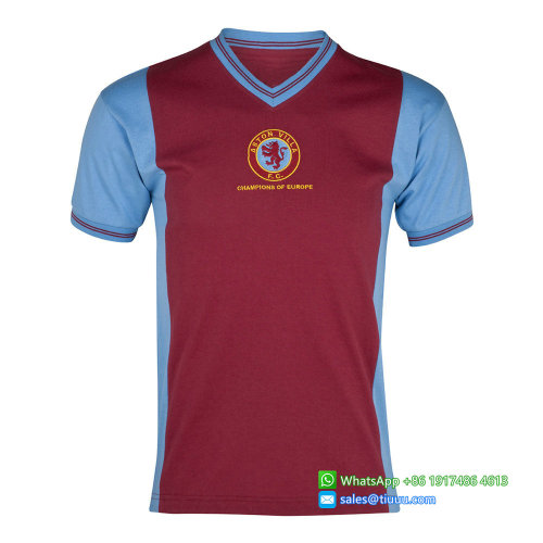 Aston Villa 1981-82 Home Champions of Europe Retro Jersey