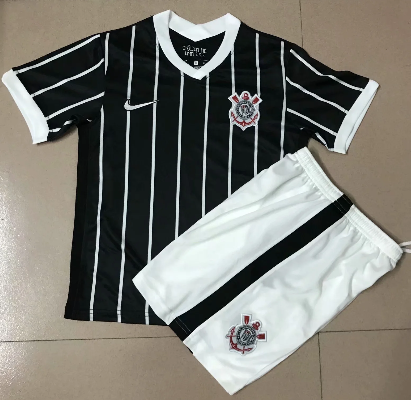 Corinthians 2020 Kids Away Soccer Jersey and Short Kit