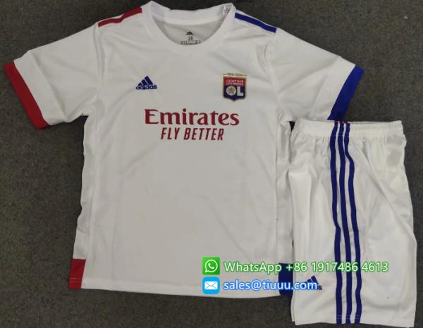 Olympique Lyonnais 20/21 Kids Home Soccer Jersey and Short Kit