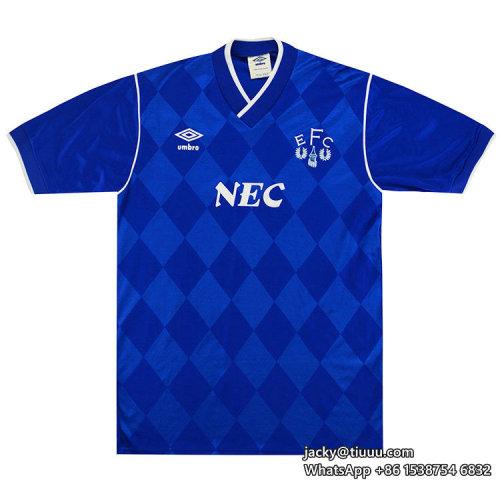 Everton 1986-89 Home Retro Soccer Jersey