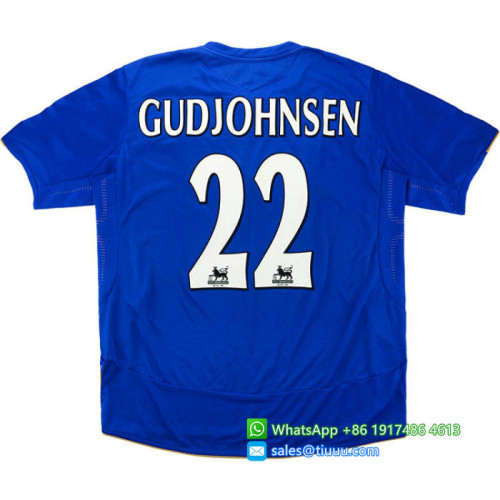Chelsea 2005/06 Centenary Home Retro Jersey #22 Gudjohnsen