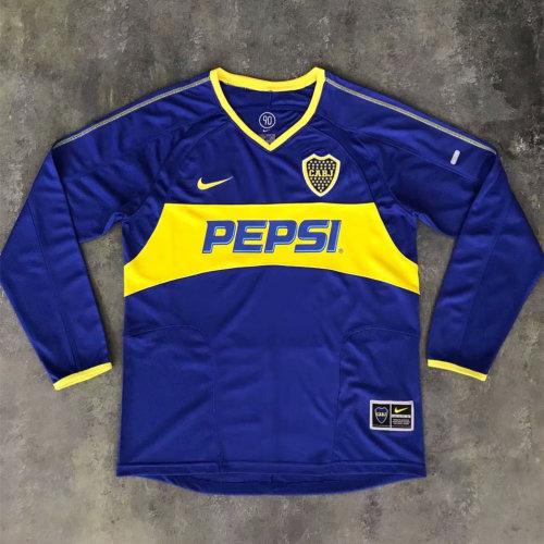 Boca Juniors 2003-2004 Home Retro L/S Jersey