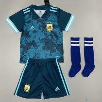 Argentina 2020 Kids Away Soccer Jersey and Short Kit