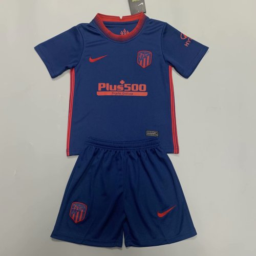 Atletico Madrid 20/21 Kids Away Soccer Jersey and Short Kit