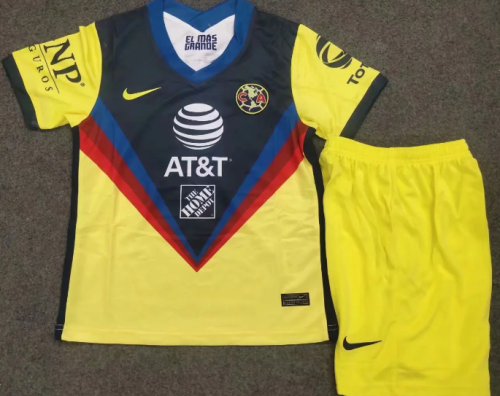 Club America 20/21 Kids Home Soccer Jersey and Short Kit