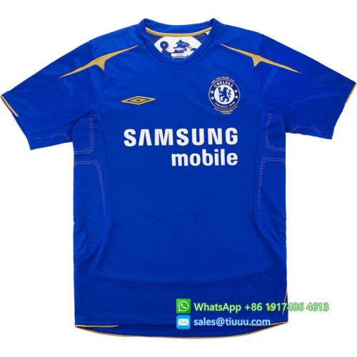 Chelsea 2005/06 Centenary Home Retro Jersey #15 Drogba
