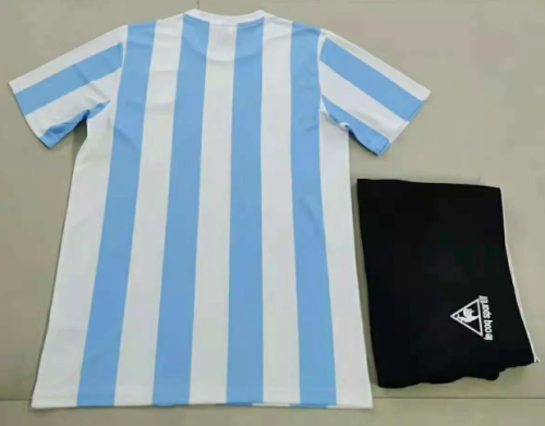 Argentina 1986 Home Retro Soccer Jersey and Short Kit