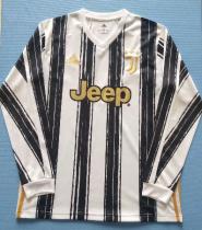 Thai Version Juventus 20/21 Home LS Soccer Jersey
