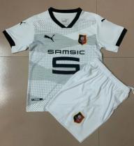 Stade Rennais 20/21 Kids Away Soccer Jersey and Short Kit
