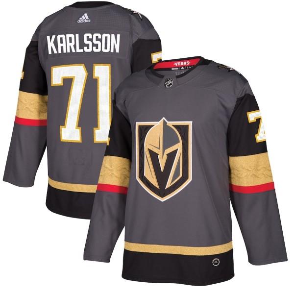 Men's William Karlsson Gray Player Team Jersey