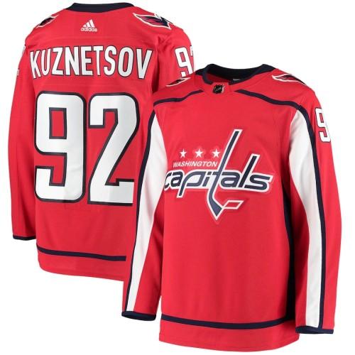 Men's Evgeny Kuznetsov Red Home Player Team Jersey