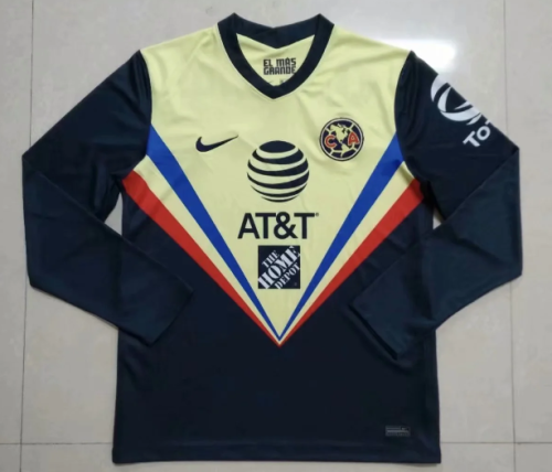 Thai Version Club America 20/21 LS Away soccer jersey