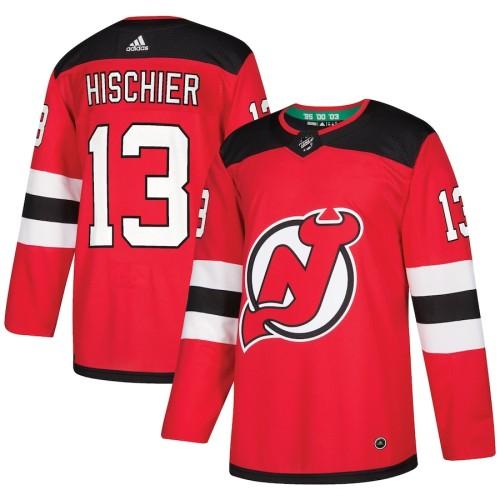 Men's Nico Hischier Red Player Team Jersey