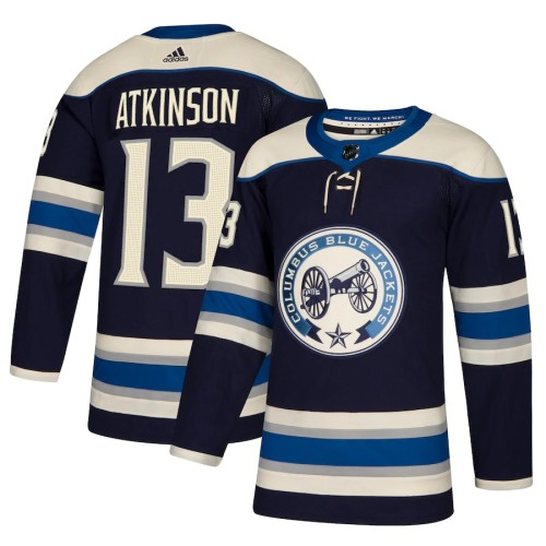 Youth Cam Atkinson Navy Alternate Player Team Jersey