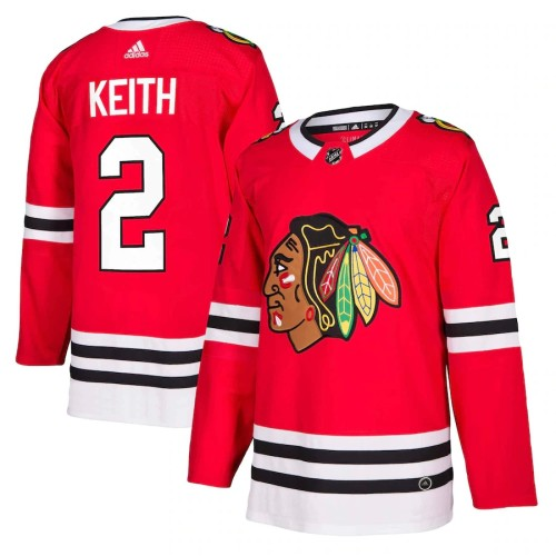 Men's Duncan Keith Red Player Team Jersey
