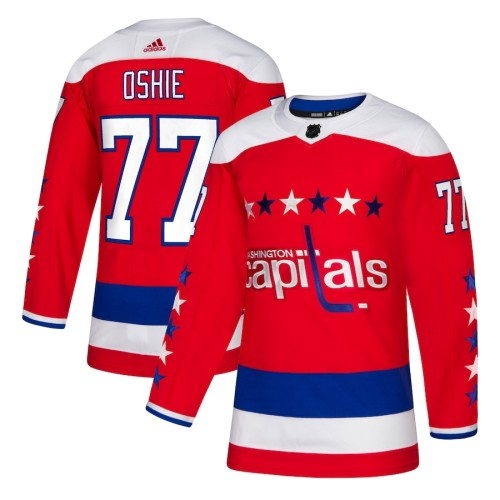 Men's TJ Oshie Red Alternate Player Team Jersey