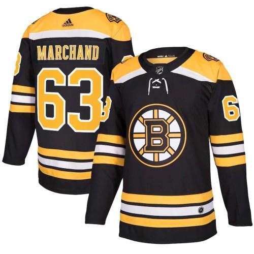 Men's Brad Marchand Black Player Team Jersey