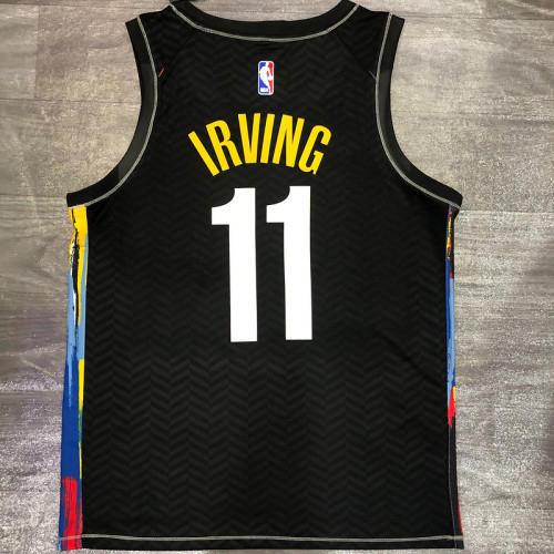 Thai Version Men's Kyrie Irving 2020-21 Black Swingman Player Jersey – City Edition