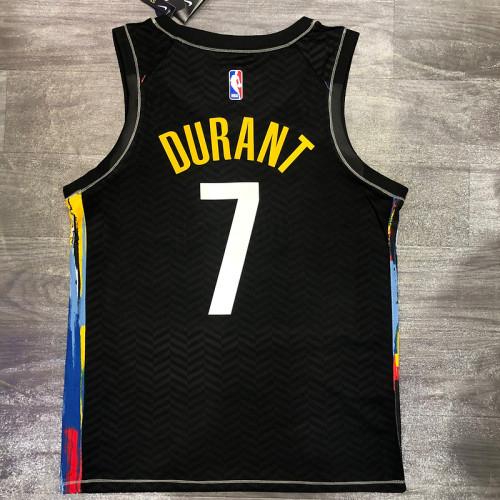 Thai Version Men's Kevin Durant 2020-21 Black Swingman Player Jersey – City Edition