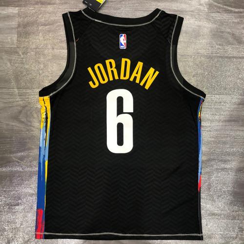 Thai Version Men's DeAndre Jordan 2020-21 Black Swingman Player Jersey – City Edition