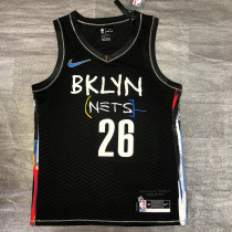 Thai Version Men's Spencer Dinwiddie 2020-21 Black Swingman Player Jersey – City Edition