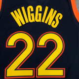 Thai Version Men's Andrew Wiggins 2020-21 Navy Swingman Jersey - City Edition