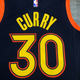 Thai Version Men's Stephen Curry 2020-21 Navy Swingman Jersey - City Edition