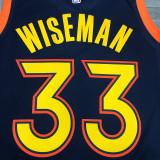 Thai Version Men's James Wiseman 2020-21 Navy Swingman Jersey - City Edition