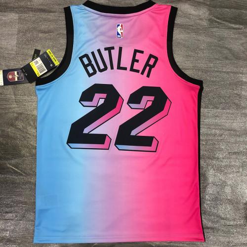 Thai Version Men's Jimmy Butler 2020-21 Pink Swingman Player Jersey – City Edition